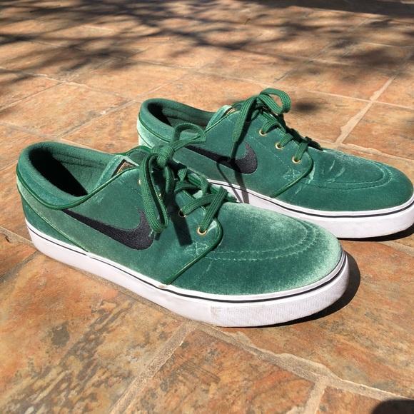 Instalaciones Mal uso fragancia  Nike Shoes | Nike Sb Janoski Premium M8w95 Green Velvet | Poshmark